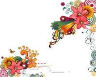 Bloemen abstracte samenstelling Royalty-vrije Stock Afbeelding