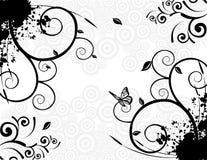 Bloemen abstracte vector stock illustratie