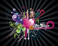 Bloemen abstracte vector Royalty-vrije Stock Afbeelding