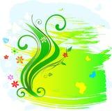 Bloemen abstractie stock illustratie
