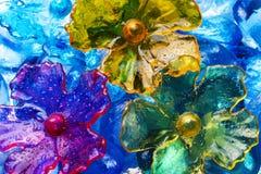Bloemen abstractie stock afbeeldingen