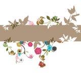 Bloemen achtergrond stock illustratie