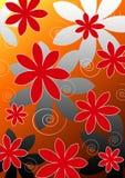 Bloemen, achtergrond Stock Afbeelding