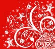 Bloemen achtergrond & sneeuwvlok Royalty-vrije Stock Foto's