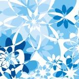 Bloemen achtergrond - blauw stock illustratie