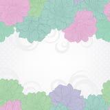 Bloemen achtergrond Bloemen achtergrond Huwelijkskaart of uitnodiging met bloemen op pastelkleuren Hand-drawn contourlijnen en sl Royalty-vrije Stock Fotografie