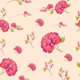 Bloemenachtergrond, de vector van het bloempatroon Royalty-vrije Stock Afbeelding