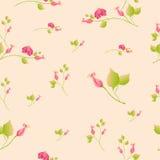 Bloemenachtergrond, de vector van het bloempatroon Stock Foto's