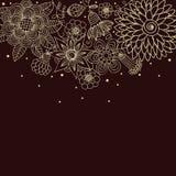 Bloemen achtergrond in donkere kleuren Royalty-vrije Stock Foto's