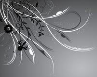 Bloemen achtergrond, elementen voor ontwerp, vector Royalty-vrije Stock Afbeeldingen