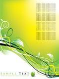 Bloemen achtergrond/futuristisch ontwerp Royalty-vrije Stock Afbeelding