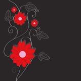 Bloemen achtergrond, groetkaart stock illustratie