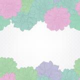 Bloemen achtergrond Huwelijkskaart of uitnodiging met dahliabloemen Stock Foto's