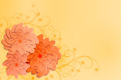Bloemen achtergrond Illustratie Stock Fotografie