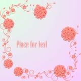 Bloemen achtergrond Illustratie Royalty-vrije Stock Afbeelding