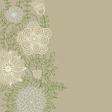Bloemen achtergrond in lichte kleuren Stock Afbeelding