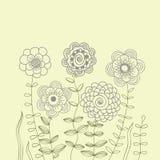 Bloemen achtergrond in lichte kleuren Stock Fotografie