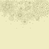 Bloemen achtergrond in lichte kleuren Stock Foto