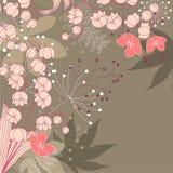 Bloemen achtergrond met contourbloemen vector illustratie