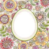 Bloemen achtergrond met etiket vector illustratie