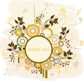 Bloemen achtergrond met frame stock illustratie