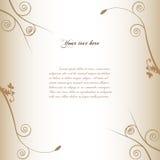 Bloemen achtergrond met uitstekende stijl. royalty-vrije illustratie