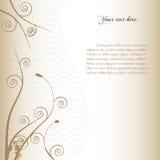 Bloemen achtergrond met uitstekende stijl. stock illustratie