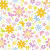 bloemen achtergrond met vlinder Royalty-vrije Stock Fotografie