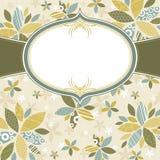 Bloemen achtergrond met wit etiket Royalty-vrije Stock Afbeelding