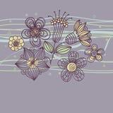 Bloemen achtergrond in purpere kleuren Stock Fotografie