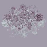Bloemen achtergrond in purpurekleuren Stock Foto