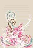 Bloemen achtergrond in roze en groen turkoois Royalty-vrije Stock Afbeelding