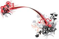 Bloemen achtergrond, vector Stock Foto's