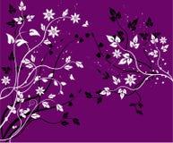 Bloemen achtergrond - vector royalty-vrije illustratie