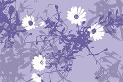 Bloemen achtergrond (vector) Stock Fotografie