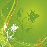 Bloemen achtergrond, vector Stock Afbeeldingen