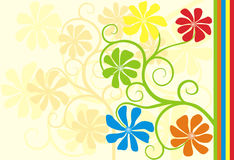Bloemen achtergrond, vector Stock Afbeelding
