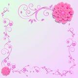 Bloemen achtergrond Vector illustratie Royalty-vrije Stock Foto's
