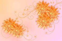 Bloemen achtergrond Vector illustratie Royalty-vrije Stock Fotografie