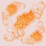 Bloemen achtergrond Vector illustratie Stock Foto's