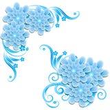 Bloemen achtergrond Vector illustratie Royalty-vrije Stock Foto