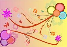 Bloemen achtergrond, vectorillustratie Stock Afbeelding