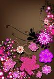 Bloemen achtergrond voor tekst vector illustratie