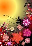 Bloemen achtergrond voor tekst royalty-vrije illustratie