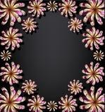 Bloemen achtergrond voor tekst stock illustratie