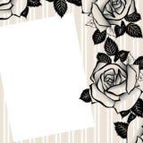 Bloemen achtergrond voor tekst cmyk Stock Fotografie