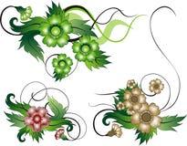 Bloemen achtergronden Royalty-vrije Illustratie