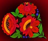 Bloemen achtergronden, hart Stock Foto's