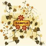 Bloemen achtergronden - vector stock illustratie