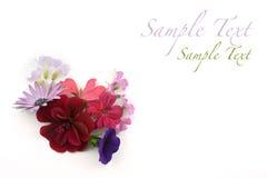 Bloemen achtergrondhoekelement Stock Fotografie